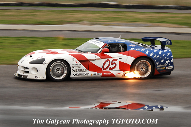 Dodge Viper Jason D Days Racing League Comp Coupe In The Rain New Orleans